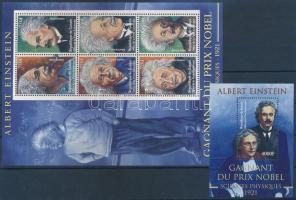 Albert Einstein minisheet + block, Albert Einstein kisív  + blokk