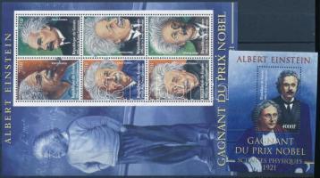 Albert Einstein mini sheet + block, Albert Einstein kisív + blokk