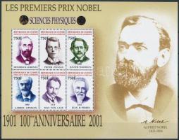 Centenary of Nobel Prize mini sheet, 100 éves a Nobel-díj kisív