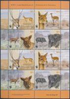 WWF: Indigenous mammals minisheet, WWF: Őshonos emlősök kisív