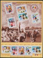 Sports events of the XX. century mini sheet, A XX. század sporteseményei kisív