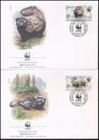 WWF: Marbled polecat set + 4 FDC WWF: Tigrisgörény sor + 4 db FDC