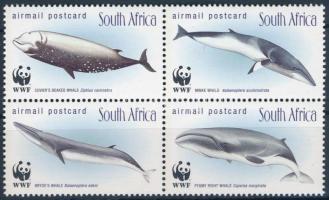 WWF Whales block of 4 WWF: Bálnák  négyestömb