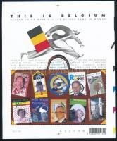 Famous Belgian people around the world minisheet, Híres belga emberek a világban kisív