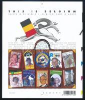 Famous belgian people minisheet, Híres belga emberek a világban kisív