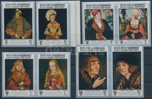 1967 Lucas Cranach festményei vágott sor Mi 147-154