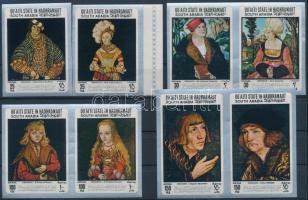 Paintings by Lucas Cranach imperforated set Lucas Cranach festményei vágott sor