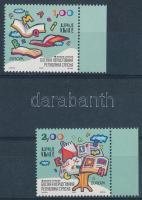 Europe CEPT Children's books margin set + stamp booklet sheet, Europa CEPT: Gyermekkönyvek ívszéli sor + bélyegfüzetlap