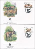 WWF East African oryx set on 4 FDC, WWF: Kelet-afrikai nyársas antilop sor 4 db FDC-n