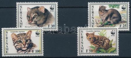 1995 WWF: Kisméretű macskafajták 4 érték + 4 FDC Mi 1514-1517