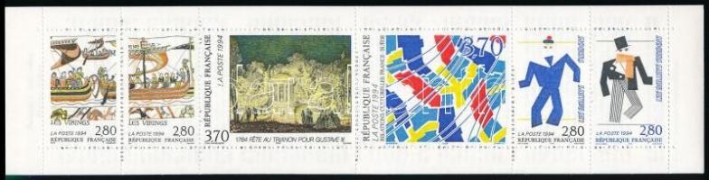 Cultural relations between France and Sweden stamp-booklet Kulturális kapcsolatok Franciaország és Svédország között bélyegfüzet
