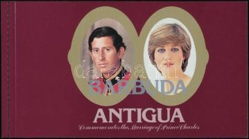 Charles and Diana's wedding stamp booklet, Károly és Diana esküvője bélyegfüzet