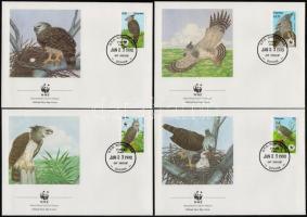 1990 WWF: Hárpia sor 4 FDC-n Mi 3077-3080