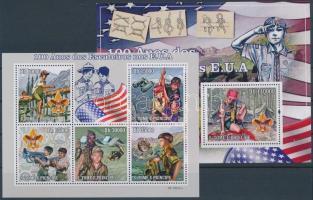 Centenary of Scoutment in the USA mini sheet + block, 100 éves a cserkészet az USA-ban kisív + blokk