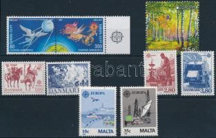 1981-2011 Europa CEPT 9 diff. stamps, 1981-2011 Europa CEPT: 9 klf bélyeg, közte egy ívszéli pár