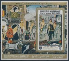 Horses paintings block Lovas festmények blokk