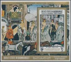 Paintings with horses block Lovas festmények blokk