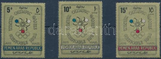 1967 Téli Olimpia, Grenoble sor Mi 613-615