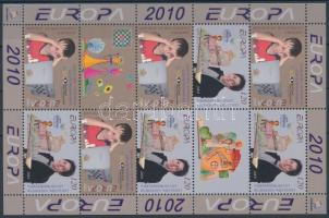 Europa CEPT Junior Eurovision Song Contest, Youth Chess Championship mini sheet with 8 stamps and 2 coupons Europa CEPT: Ifjúsági Eurovíziós Dalfesztivál, Ifjúsági sakk VB 8 bélyeget és 2 szelvényt tartalmazó kísív