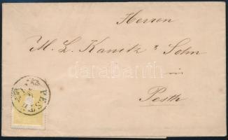 """~1860 2kr II. nice print on local printed matter, ~1860 2kr II. szép nyomat helyi nyomtatványon ,,PESTH"""""""
