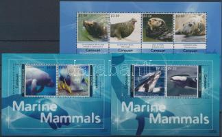 2012 Tengeri emlősök kisív Mi 246-249 + blokksor Mi 29-30