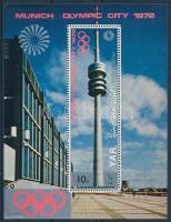 Munich Olympic minisheet + block Müncheni olimpia kisív  + blokk