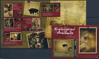 Endangered species of Africa minisheet + block Afrikai veszélyeztetett állatok kisív  + blokk