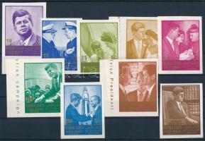 J. F. Kennedy imperforated set, J. F. Kennedy vágott sor