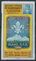 World Jamboree imperforated stamp Cserkész világtalálkozó vágott bélyeg