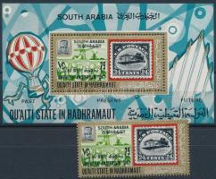Stamp exhibition AMPHILEX stamp + block, Bélyegkiállítás AMPHILEX bélyeg + blokk