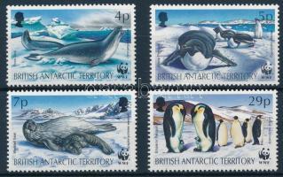 WWF Seals and penguins 4 values + 4 FDC, WWF: Fókák és pingvinek 4 érték + 4 db FDC