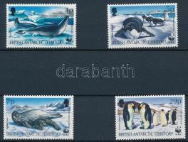 WWF: Seals and penguins 4 values + 4 FDCs, WWF: Fókák és pingvinek 4 érték + 4 db FDC