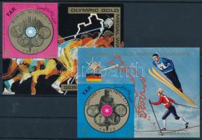 German Olympic gold medalists perforated and imperforated block, Német olimpiai aranyérmesek fogazott és vágott blokk