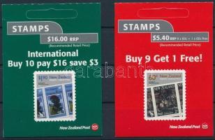 Christmas 2 self-adhesive stamp-booklets Karácsony 2 öntapadós bélyegfüzet