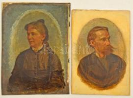 1894 Barabás Miklós (1810-1898): Thiering Gizella és férje Lukse-Fábry Béla (1844-1915) műszaki főtanácsos portréja. Olaj, vászon-karton, egyik jelzett (csak nagyítóval kivehető), restaurálásra szorul, 13×9 cm (2×). A portrék a Főherceg Albrecht (Hunyadi János út.31) úton álló épület házavatójára készültek