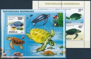 Turtles minisheet + block Teknősbékák kisív + blokk