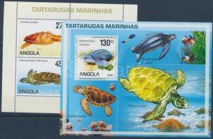 Turtles minisheet + block, Teknősbékák kisív + blokk