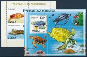 Turtles minisheet + block, Teknős békák kisív + blokk