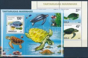 2007 Teknős békák kisív + blokk Mi 1794-1797 + 123
