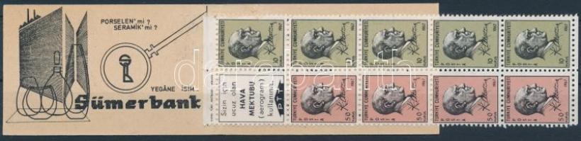 Ataturk stamp-booklet Atatürk bélyegfüzet