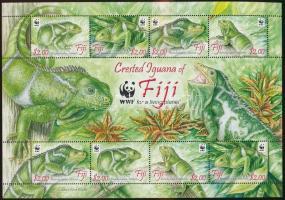 WWF Iguana mini sheet WWF: Leguán kisív