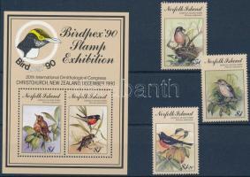 International Stampexhibition BIRDPEX, Birds set + block Nemzetközi bélyegkiállítás BIRDPEX, Madarak sor + blokk