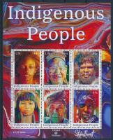Indigenous people block Őslakos emberek blokk