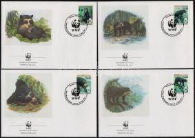 Spectacled bear set 4FDC, Pápaszemes medve sor 4 FDC-n