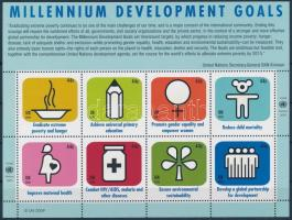 Millennium Development Goals minisheet Millenniumi fejlesztési célok kisív
