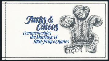 Prince Charles and Lady Diana's wedding stamp-booklet Károly és Diana esküvője bélyegfüzet
