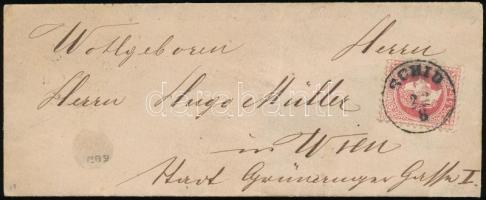 1870 5kr levélen / on cover SCHID - WIEN