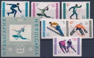 1964 Innsbruck-i olimpia sor + blokk Mi 1426-1431 + 12