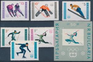 Innsbruck Olympics set + block Innsbruck-i olimpia sor + blokk