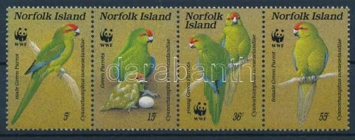WWF: Papagáj négyescsík, WWF: Parrot block of 4